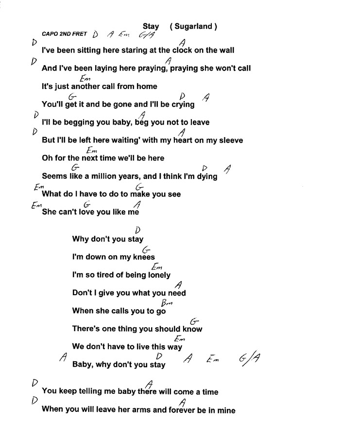 Woodcop Guitar Music Page Song List By Title